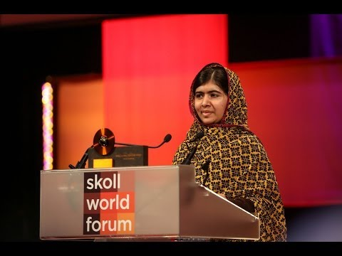 Malala Yousafzai Accepts the Skoll Global Treasure Award | 2014 Skoll World Forum