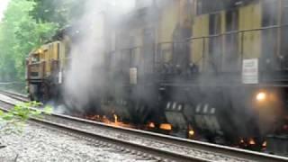 getlinkyoutube.com-Loram Rail Grinder  on the Lehigh Line of Norfolk Southern