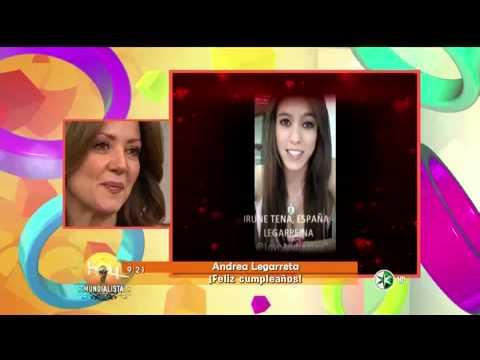 Sorpresa para Andrea Legarreta en el programa HOY.