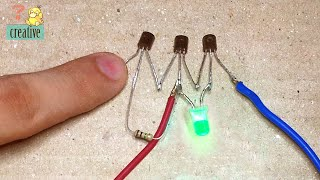 Two simple touch sensor circuit using transistor