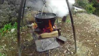 getlinkyoutube.com-大好きなキャンプ道具 ダッチオーブンで作る超簡単クリームパスタの作り方 LOGOS スノーピーク UNIFLAME