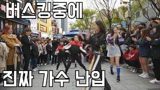 헉..? 댄스 버스킹 중에 걸그룹 연예인 난입!? 칼군무!? (춤추는곰돌 AF STARZ)