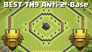 getlinkyoutube.com-Townhall (TH9) Ring Base/Donut Base + REPLAY | BEST TH9 Pushing/Trophy/Anti 2 star Base | 2016