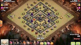 getlinkyoutube.com-How to 3 star diamond moats th9 popular forum base - clash of clans