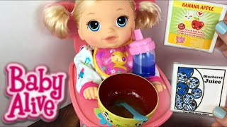 getlinkyoutube.com-Crawling Baby Alive Go Bye-Bye Doll Morning Routine Feeding and Diaper Change