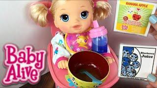 getlinkyoutube.com-Crawling Baby Alive Go Bye-Bye Doll Morning Routine Feeding and Diaper Change