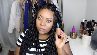 getlinkyoutube.com-New Marc Jacobs ReMARCable Full Cover Foundation Review + Demo