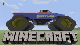 getlinkyoutube.com-SUPERMAN Monster Truck on MINECRAFT Xbox 360