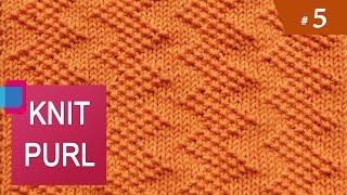 getlinkyoutube.com-Knit Purl Stitches #5: ZIG ZAG SEED STITCH