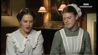 getlinkyoutube.com-Jessica Brown Findlay and Rose Leslie Downton Abbey Interview