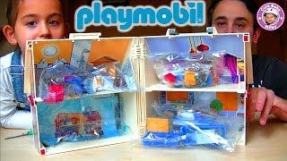 getlinkyoutube.com-Playmobil - Das Mitnehm- Puppenhaus wird ausgepackt - unboxing 5167