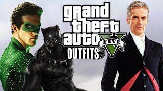 getlinkyoutube.com-GTA 5 Online - Outfits (Green Lantern, Black Panther & Doctor Who)