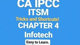 CA IPCC ITSM TRICKS &SHORTCUTS - Chapter 4 (IT)