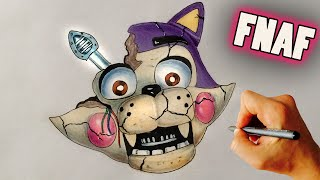 getlinkyoutube.com-♥ How to draw Withered Toy Candy Cat from FNAF Fan game FNAC - Drawing tutorial