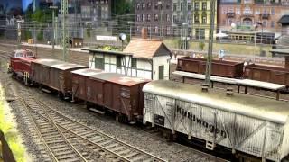 getlinkyoutube.com-Modellbahn H0 Realistik pur: Rangier- und Güterzugverkehr in Eschwege/West