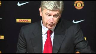 getlinkyoutube.com-Manchester United 8-2 Arsenal - Wenger's reaction to loss | English Premier League 2011-2012