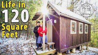 getlinkyoutube.com-Off-Grid Tiny House in the North Carolina Mountains