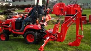 getlinkyoutube.com-Kubota BX25 Backhoe Removal