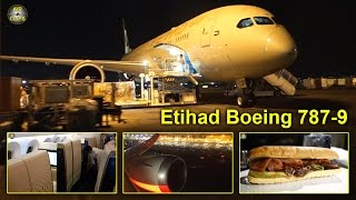getlinkyoutube.com-Etihad Boeing 787-9 Dreamliner Business Class, First Class views HOT! [AirClips full flight series]
