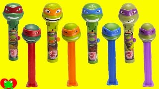 getlinkyoutube.com-Teenage Mutant Ninja Turtles Lolli Pop Ups and Pez Candy Dispensers