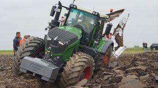 getlinkyoutube.com-Fendt 1050 Vario diepploegen.... bij Van Werven deep ploughing Trekkerweb pure sound