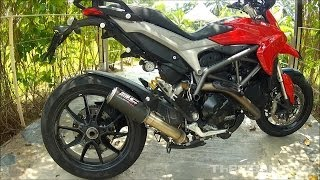 getlinkyoutube.com-2014 Ducati Hyperstrada SC Project GP carbon exhaust