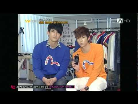 120109 Mnet wide 2pm Taecyeon & Wooyoung