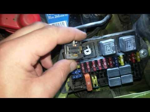 Проверка работы вентилятора охлаждения радиатора Daewoo Matiz