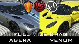 getlinkyoutube.com-Forza 5 - Full Mile Drag - Hennessey Venom vs Koenigsegg Agera