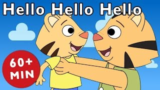 getlinkyoutube.com-Hello Hello Hello and More | Nursery Rhymes from Mother Goose Club!