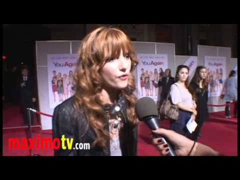 """Bella Thorne (Shake It Up!) Interview at """"You Again"""" Premiere"""