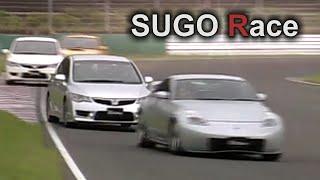 getlinkyoutube.com-[ENG CC] SUGO Race 2007 - Civic R FD2, Modulo FD2, 350Z, Impreza Sti RA-R
