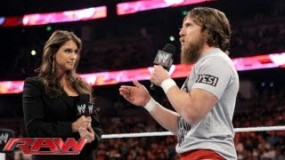 getlinkyoutube.com-Daniel Bryan is furious with Stephanie McMahon about losing the WWE Title: Raw, August 19, 2013