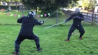 getlinkyoutube.com-Dussack (basket sabre) vs Rapier - Michael vs Nick