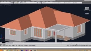 getlinkyoutube.com-AUTOCAD 3D HOUSE   PART6  -  SLOPED ROOF | AUTOCAD SLOPED ROOF | 3D ROOF