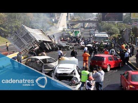 Muertos por accidentes en carretera México - Cuernavaca