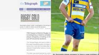 getlinkyoutube.com-Rugby Player Pees In Pants to Push Away Opponents