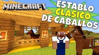 getlinkyoutube.com-Minecraft: Establo para caballos Clasico, Super Tutorial.