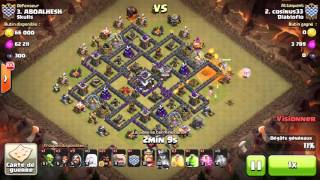 how to 3 star Clash of clans - Town hall 9 (TH9) War Base (Rattan)
