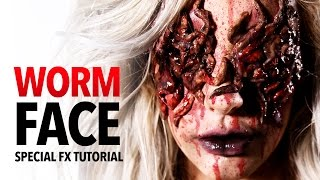 getlinkyoutube.com-Worm face special fx makeup tutorial
