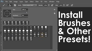 getlinkyoutube.com-Photoshop Tutorial: How to Download & Install New Brushes & other Presets
