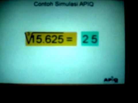 08 APIQ akar kubik cara cepat