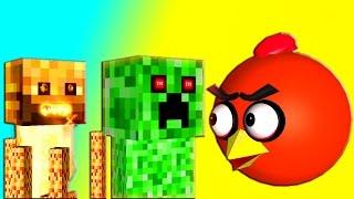 getlinkyoutube.com-MINECRAFT CREEPERS vs. ANGRY BIRDS  ♫  3D animated  GameMashup  ☺ FunVideoTV - Style ;-))