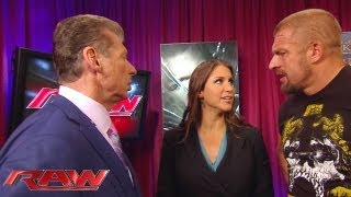getlinkyoutube.com-Raw - Mr. McMahon gives Triple H his match with Curtis Axel but The Game doesn't want it: June 10, 2013