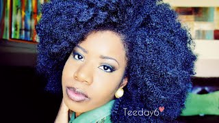 getlinkyoutube.com-HUGE Kinky Afro Crochet Braids | TEEDAY6