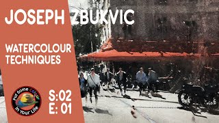 getlinkyoutube.com-Fine art Tips with a Mind Blowing Watercolour Art Lessonswith Joseph Zbukvic on Colour In your Life