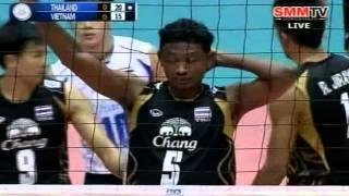 getlinkyoutube.com-Thailand - Vietnam [Set 1] Qualifier Men's World 26-06-2013