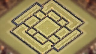 getlinkyoutube.com-Clash of clans - TH9 War Base [Weird Rectangle] + Replays