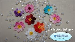 Mini Flor de Crochê Para Aplicação (4cm)