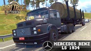 getlinkyoutube.com-Euro Truck Simulator 2 mod MERCEDES BENZ LS 1934 old truck